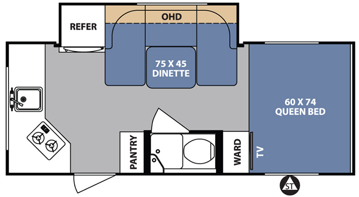 Forest River R-Pod 179 Expandable Trailer floorplan