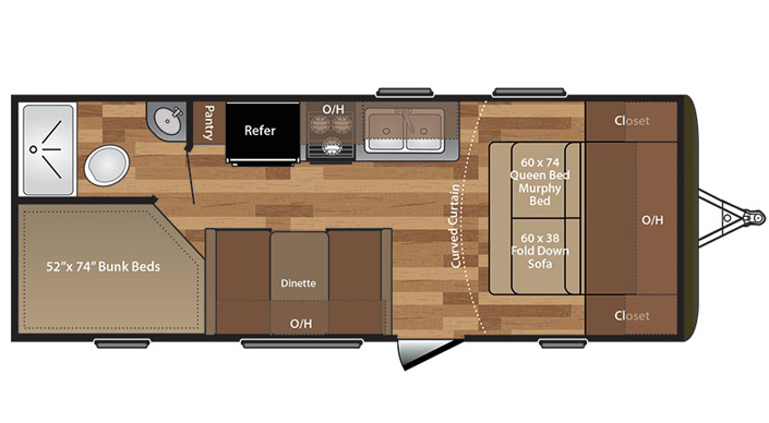 Keystone Hideout 21LHS Travel Trailer floorplan
